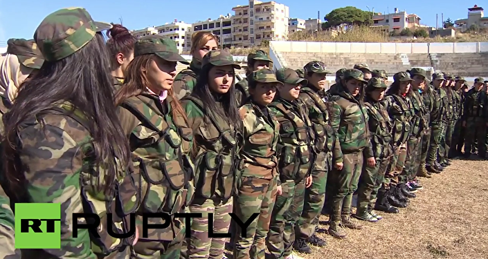 Syria: All-female recruits undergo training in Baniyas