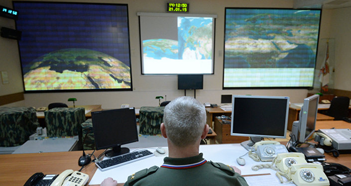 Combat duty officers at the command center of the Don-2-N radar