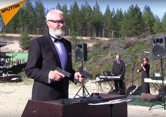 Head of Russian Shooting Federation Plays Beethoven and Russian Murka with Glocks