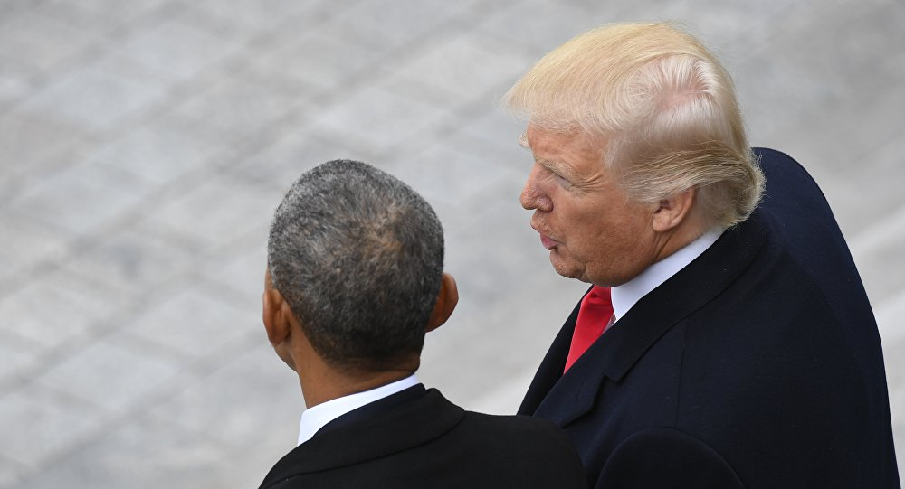 Barak Obama i Donald Tramp