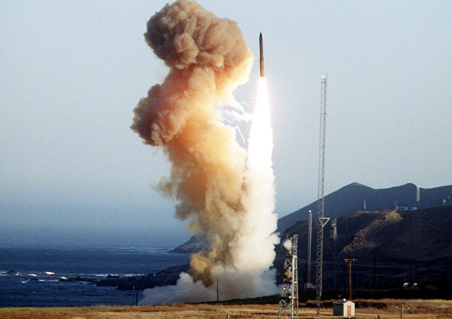 Minuteman III test launch, 1994