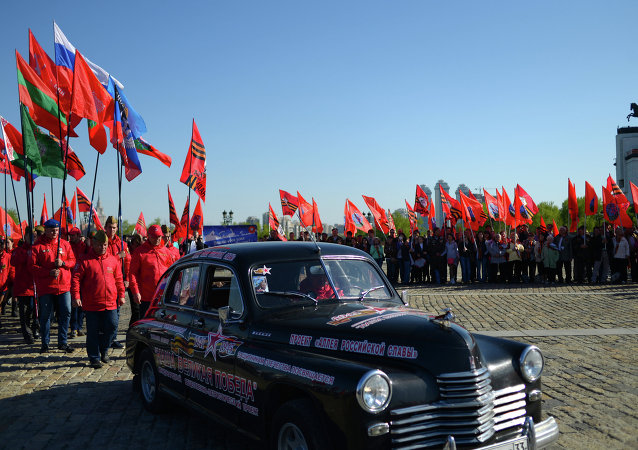 Participants in Our Great Victory motor rally welcomed in Moscow