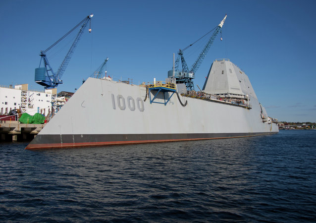 The future USS Zumwalt Navy destroyer