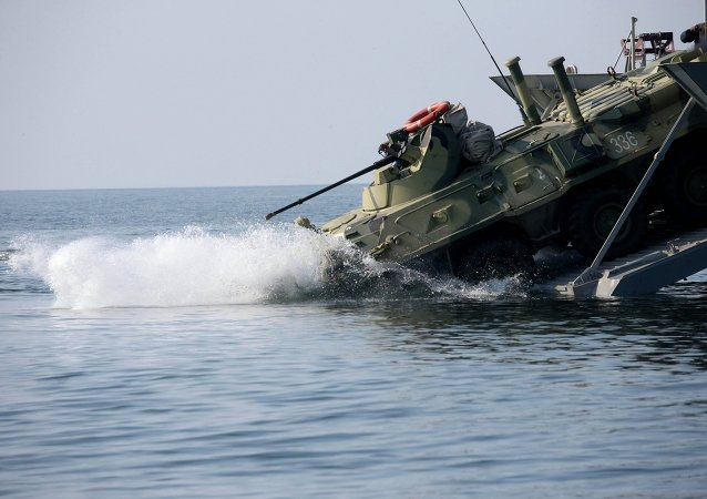 The Denis Davydov new generation landing craft enters service at Baltic Fleet