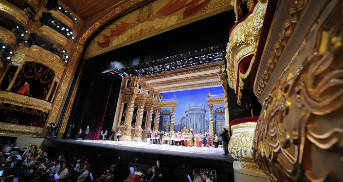 Ballet dancers rehearse The Sleeping Beauty on September 20, 2011 at the Bolshoi Theater in Moscow.