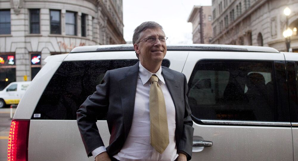 Microsoft founder Bill Gates arrives at the Frank E. Moss federal courthouse in Salt Lake City, Monday, Nov. 21, 2011