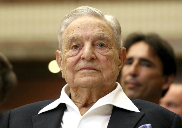 George Soros, Founder and Chairman of the Open Society Foundations, looks before the Joseph A. Schumpeter award ceremony in Vienna, Austria, Friday, June 21, 2019