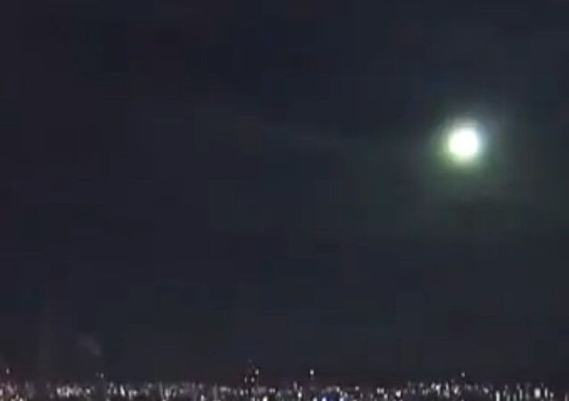 fireball in Japan's sky