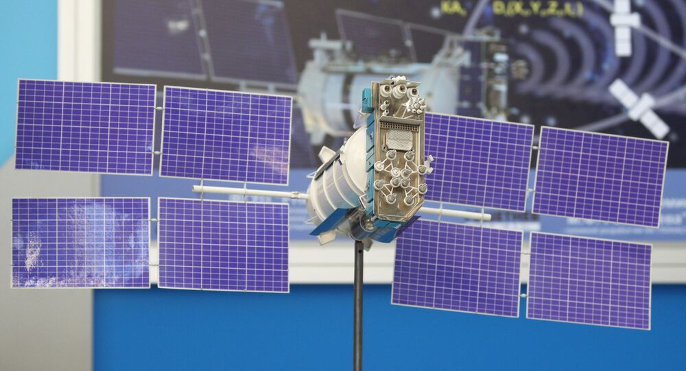 Maketa satelita Glonass-M