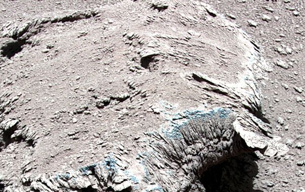 This undated handout photograph released on July 9, 2021 by the China National Space Administration (CNSA) shows rocks on the surface of Mars taken by China's Zhurong Mars rover. (Photo by HANDOUT / China National Space Administration (CNSA) / AFP) / -----EDITORS NOTE --- RESTRICTED TO EDITORIAL USE - MANDATORY CREDIT AFP PHOTO / CNSA - NO MARKETING - NO ADVERTISING CAMPAIGNS - DISTRIBUTED AS A SERVICE TO CLIENTS - Sputnik Србија