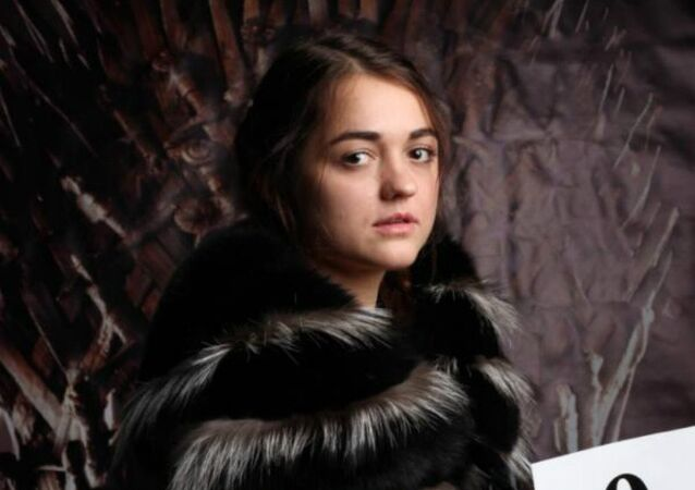 Maria was cast as Arya Stark after winning 2,433 votes
