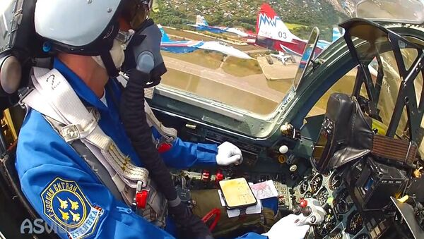 GoPro mounted the tail of the MiG 29 and Su 27 cockpit - Sputnik Србија
