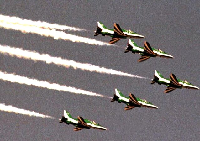 Saudi jet fighters fly