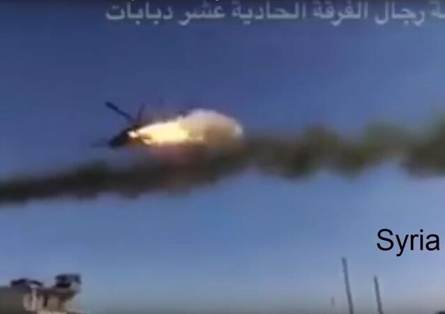 Russian Mi-24 helicopter Assist SAA units and pounces on hostiles