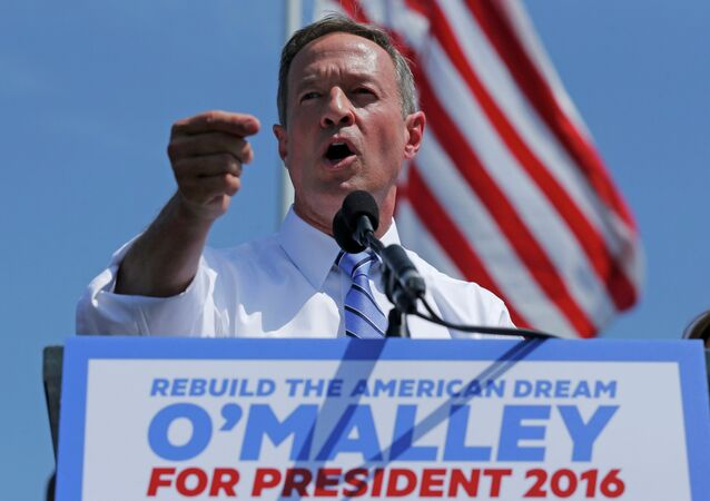 Former Maryland Governor Martin O'Malley announces his intention to seek the Democratic presidential nomination during a speech in Federal Hill Park in Baltimore, Maryland, United States, May 30, 2015