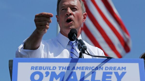 Former Maryland Governor Martin O'Malley announces his intention to seek the Democratic presidential nomination during a speech in Federal Hill Park in Baltimore, Maryland, United States, May 30, 2015 - Sputnik Србија