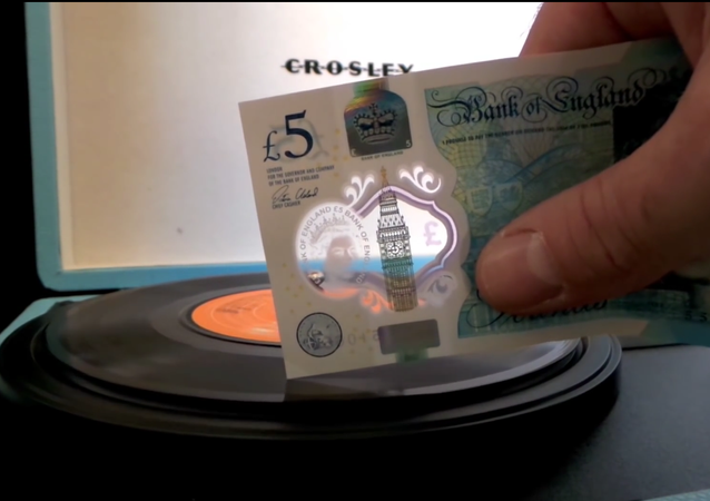 New Five Pound Note Playing a 7 Vinyl Single