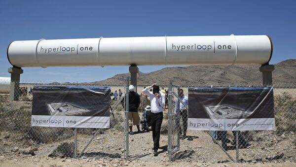 People tour the site after a test of a Hyperloop One propulsion system in North Las Vegas. (File) - Sputnik Србија