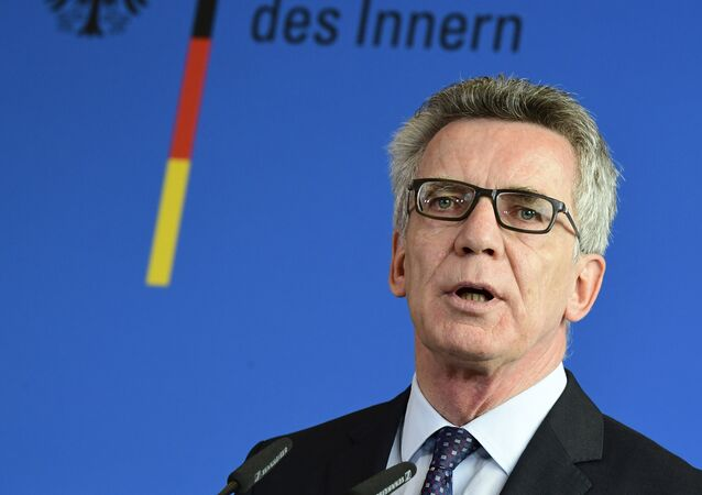 German Interior Minister Thomas de Maiziere gives a press conference on September 13, 2016 in Berlin