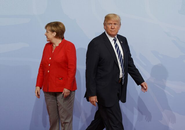 Angela Merkel i Donald Tramp
