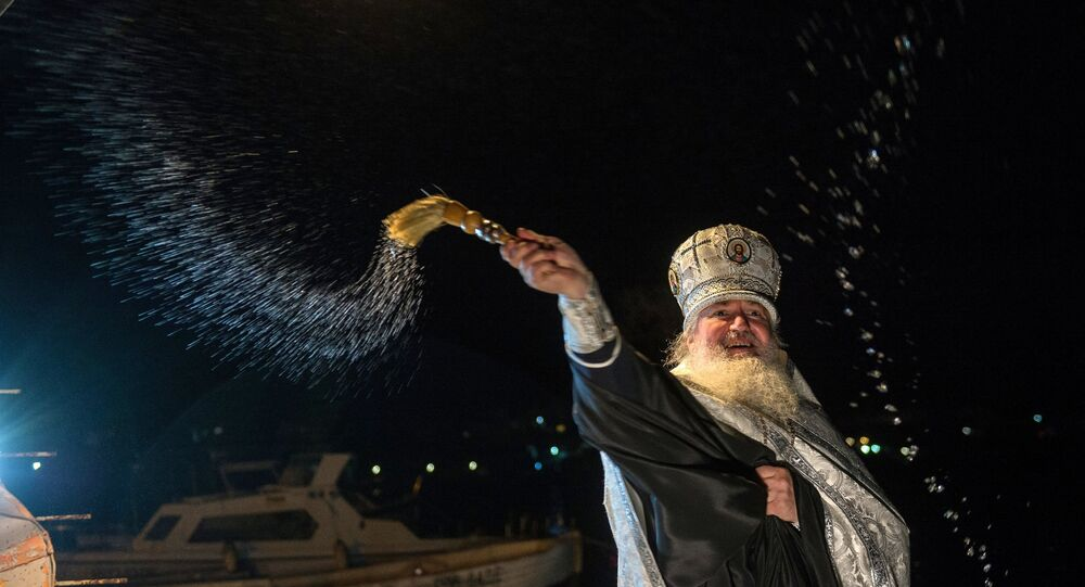 Epiphany feast in Russian cities