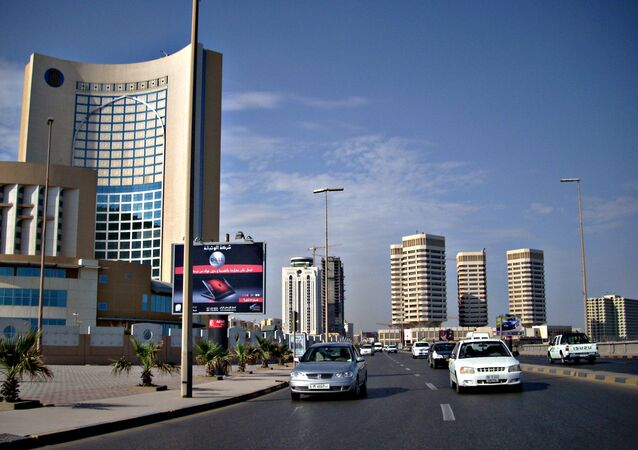 Office and hotel towers along Shari' al Corniche, Tripoli, Lybia.