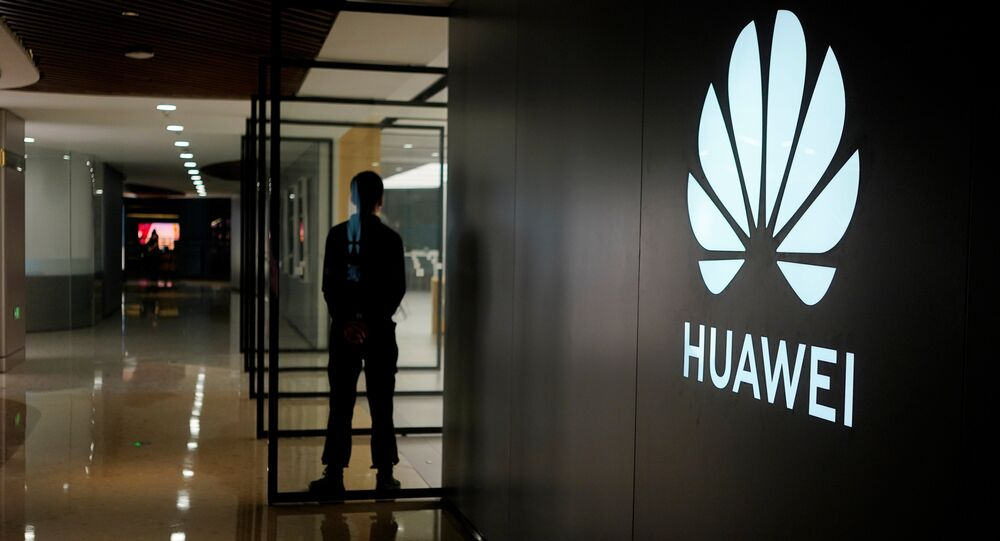 A Huawei company logo is seen at a shopping mall in Shanghai, China June 3, 2019. Picture taken June 3, 2019