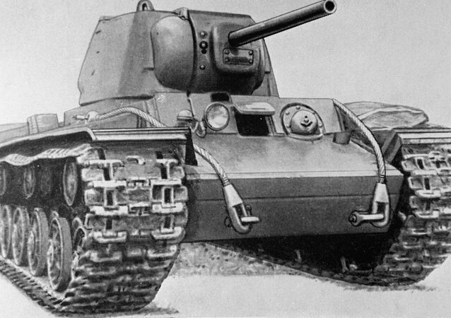 Reproduction of KV-1 heavy tank drawing from USSR Armored Forces Museum collection