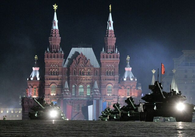 Rehearsal of Victory Parade on Red Square