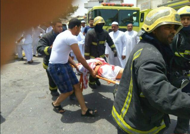 Images circulating of a suicide bomb attack on a mosque in Qatif in Saudi Arabia